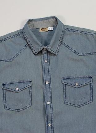 Классная джинсовка на заклепках от livergy