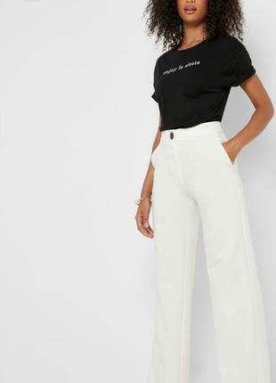 Льонові штани брюки джинси mango s середня позадка льняние штани брюки