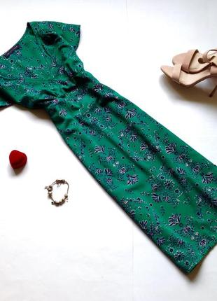 Зеленое летнее платье миди marks&spencer