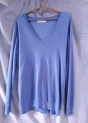 Жіночий голубий светр на мисик, європейський розмір 48
