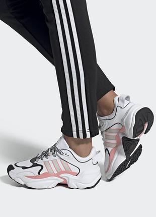 Кросовки adidas originals magmur runner бело-розовые