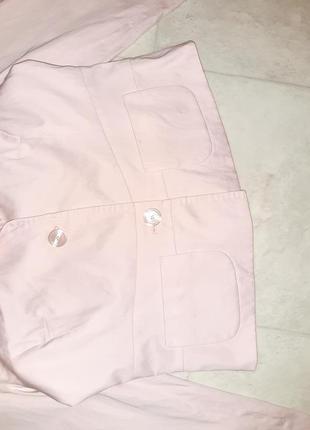 1+1=3 стильный розовый пиджак с карманами daniel hechter, размер 46 - 482 фото