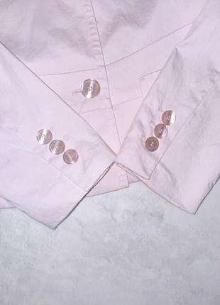 1+1=3 стильный розовый пиджак с карманами daniel hechter, размер 46 - 485 фото