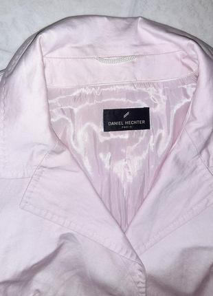 1+1=3 стильный розовый пиджак с карманами daniel hechter, размер 46 - 487 фото