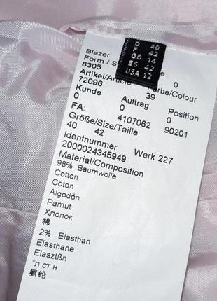 1+1=3 стильный розовый пиджак с карманами daniel hechter, размер 46 - 488 фото