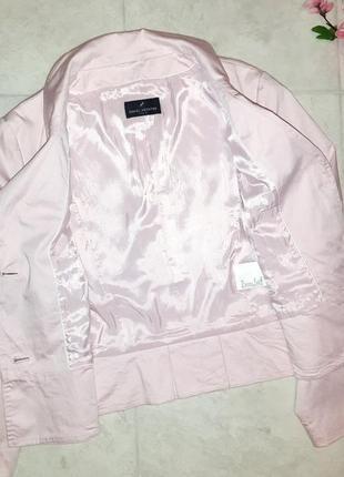1+1=3 стильный розовый пиджак с карманами daniel hechter, размер 46 - 4810 фото