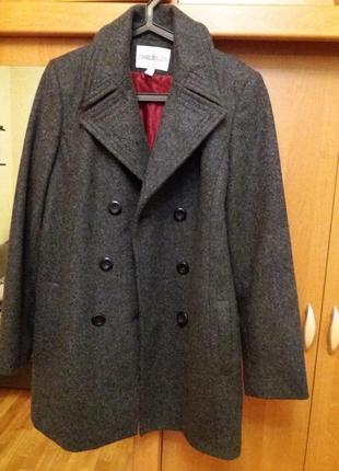 Продам пальто шинель в стиле милитари charles& keith 100% шерсть