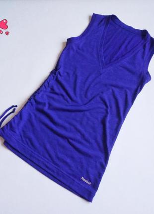 Майка reebok спортивная с асимметрией, одежда для фитнеса