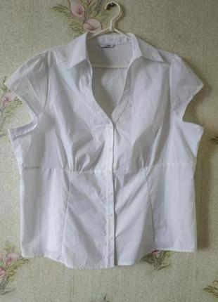 Белая женская рубашка большого размера george