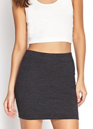 🌿1+1=3 актуальная плотная короткая юбка из трикотажа h&m, размер 42 - 44