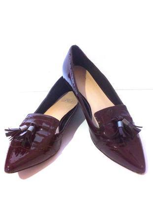 Стильные лаковые лоферы / балетки / туфли на низком ходу от бренда f&f, р.37 код k3734