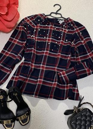 Стильная котоновая блуза,размер м