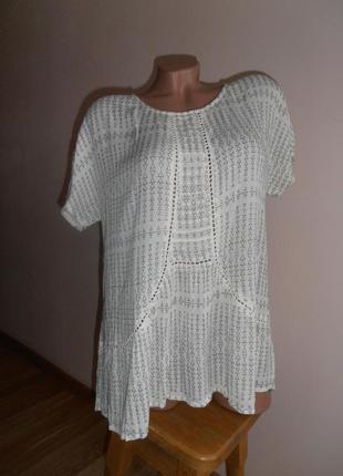 Красивая вискозная блуза в принт
