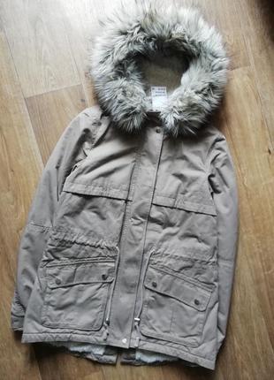 H&m стильная парка, куртка, курточка