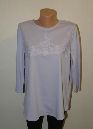 Лиловая блузочка с кружевом