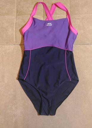 Слитный цельный спортивный купальник slazenger  для плавания, размер 14