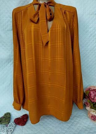 Cтильная блуза в клетку свободного кроя размер 20-22 (54-58)