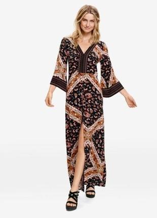 Роскошное макси платье в стиле бохо от esmara. коллекция хайди клум