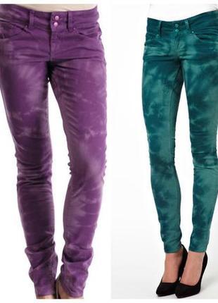 Одни яркие джинсы-варенки на выбор оранжевые или бутылочные турция