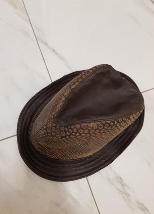 Шляпа шапка натуральная кожа