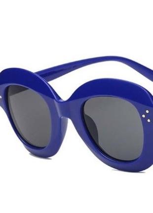 Sale! уценка! солнцезащитные женские очки гранды массивные крупные синяя оправа sale