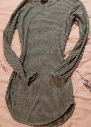 Классное уютное платье свитер