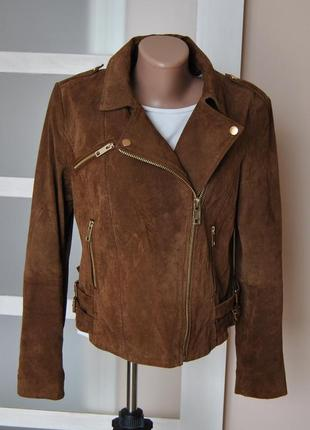 Кожаная куртка косуха mango/шкіряна куртка