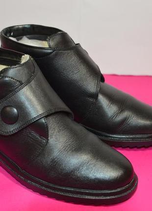 Женские  кожаные ботинки  на натуральном меху rieker
