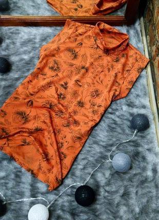 Кофточка блуза топ водолазка гольф из трикотажа