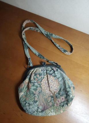 Винтажная сумка габелен
