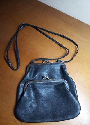 Винтажная сумочка из искусственной кожи в ретро силе в