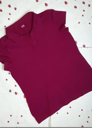 🌿1+1=3 стильная яркая женская футболка поло хлопок, размер 48 - 50