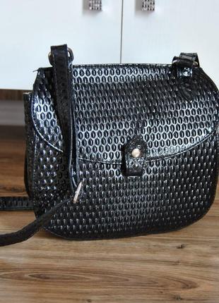 Кожаная сумка кроссбоди bericci / шкіряна сумка