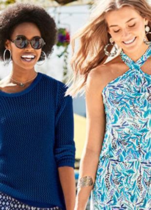 Шикарный ажурный свитер  с эффектом вязания крючком blue motion