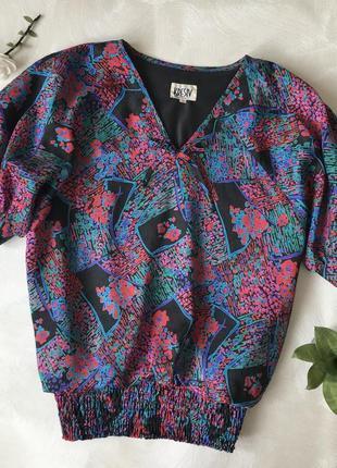 Ретро винтажная блуза рубашка топ kresiv international в стиле 70-х винтаж