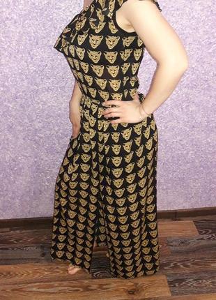 Красивое шикарное шифоновое длинное платье с принтом
