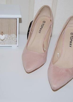 Туфли лодочки пудрово розового цвета 39 р