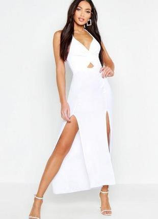 Boohoo. элегантное платье холтер .размер 44-46 новое