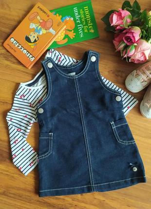 Модный джинсовый сарафан jasper conran на 6-9 месяцев
