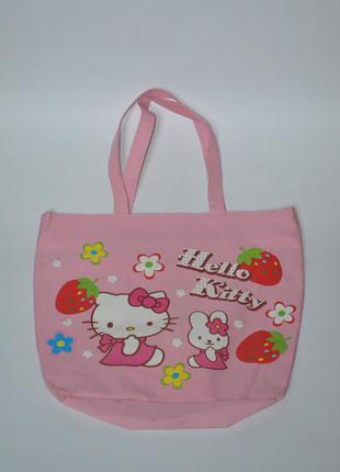 Сумка під руку hello kitty, пляжна сумка, сумка-кульок