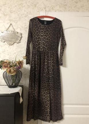 Платье сеточка леопардовый принт ichi!