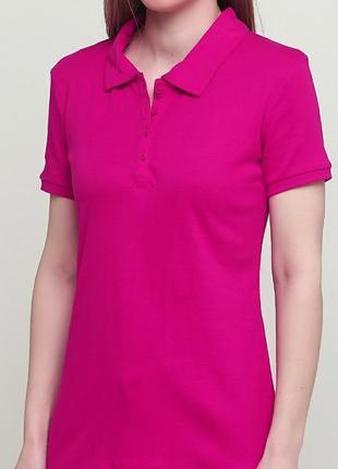 Яркая малиновая футболка поло c&a размер s