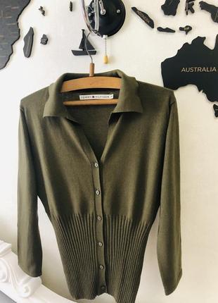 Кардиган пуловер tommy hilfiger поло оригінал розмір s, xs