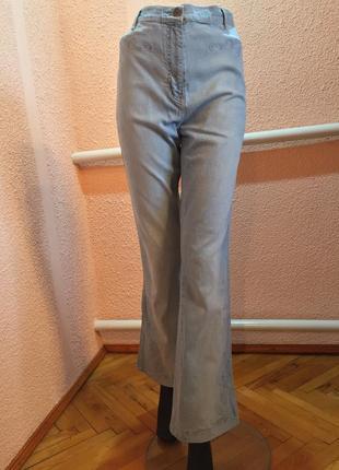 Светлые високие  джинсы из италии