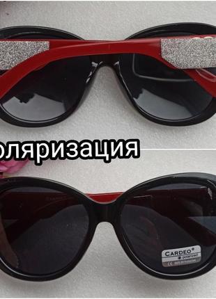 Новые стильные солнцезащитные очки с поляризацией, с блеском на дужках