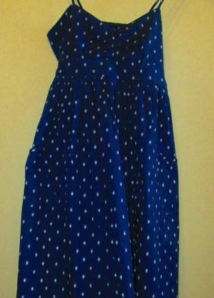 Распродажа красивое легкое платье topshop котон вышитое размер 8