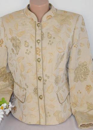Брендовый пиджак жакет блейзер с карманами wallis турция вышивка цветы этикетка