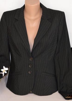 Брендовый черный пиджак жакет блейзер с карманами next вьетнам вискоза этикетка