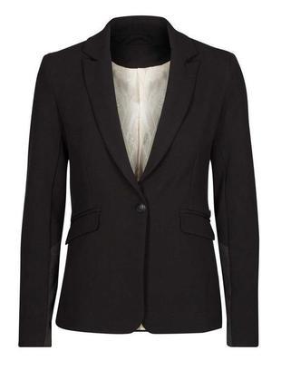 Брендовый черный пиджак жакет блейзер с карманами mos mosh турция вискоза