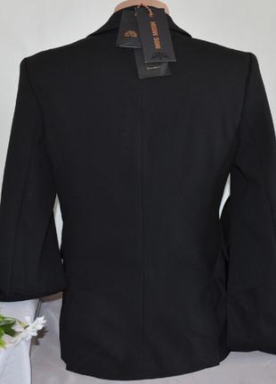 Брендовый черный пиджак жакет блейзер с карманами mos mosh турция вискоза3 фото